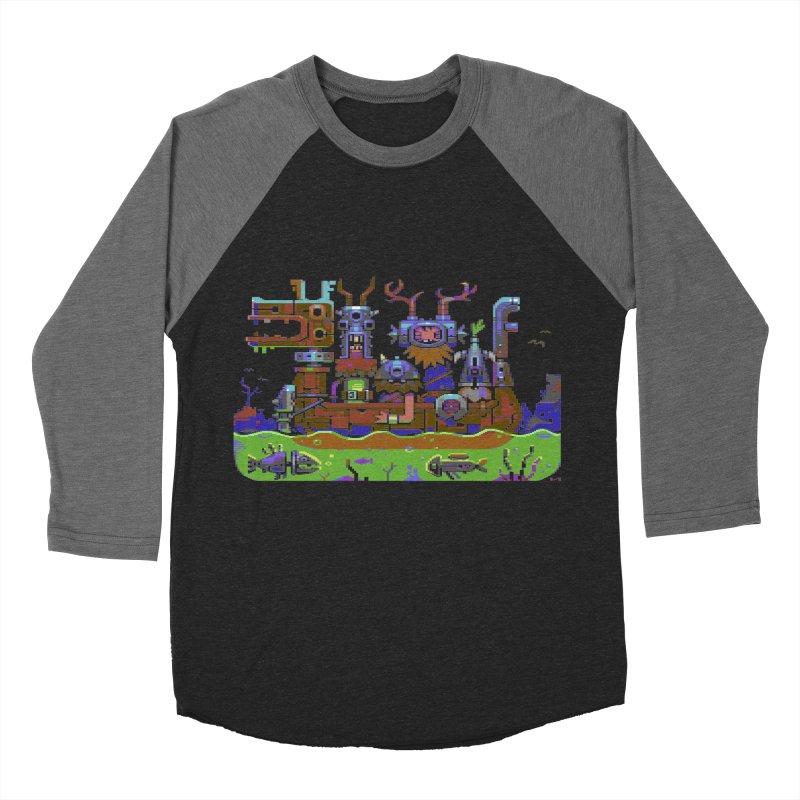 Technovikings Men's Baseball Triblend T-Shirt by AnimalBro's Artist Shop
