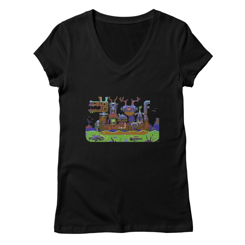 Technovikings Women's Regular V-Neck by AnimalBro's Artist Shop