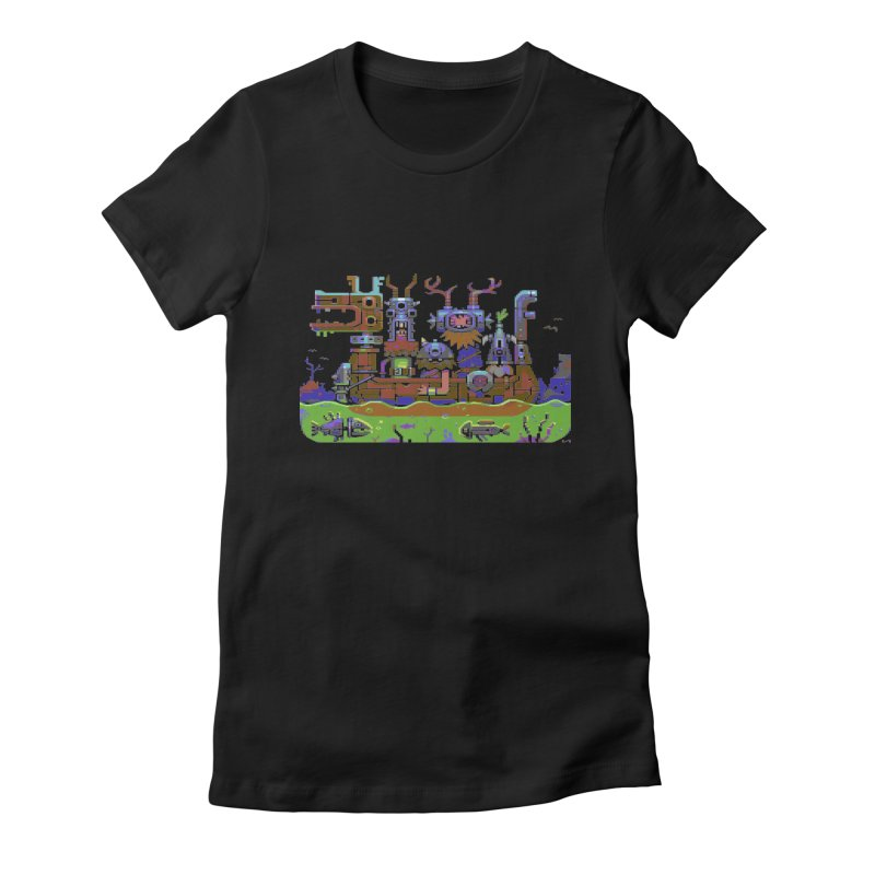Technovikings Women's Fitted T-Shirt by AnimalBro's Artist Shop