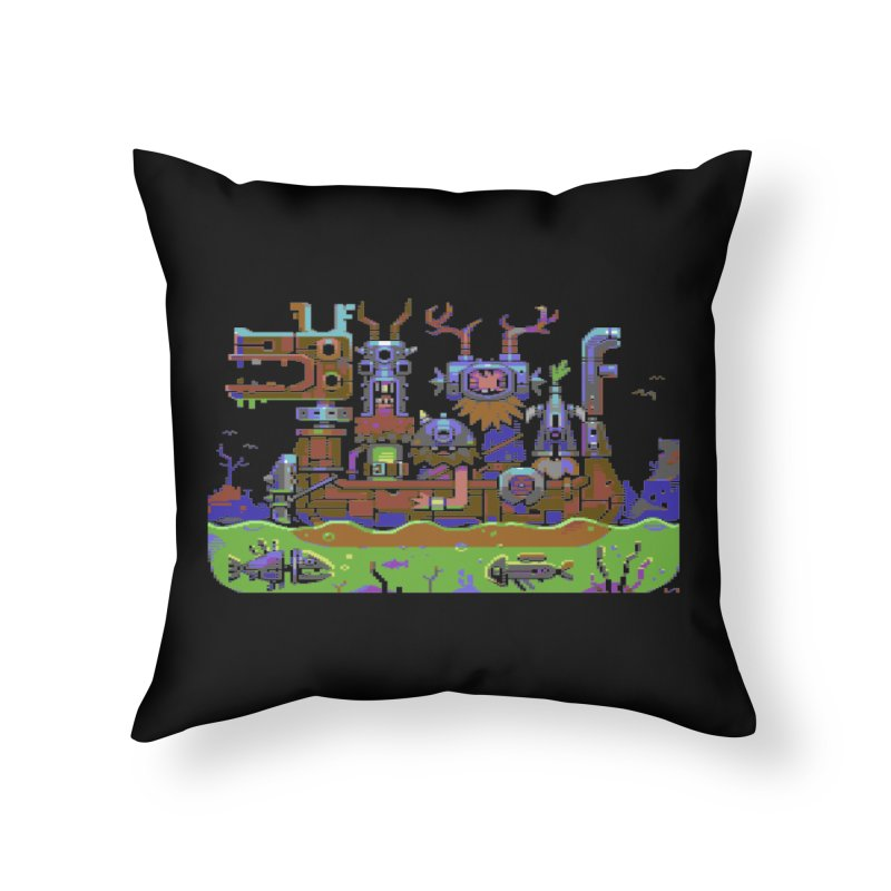 Technovikings Home Throw Pillow by AnimalBro's Artist Shop