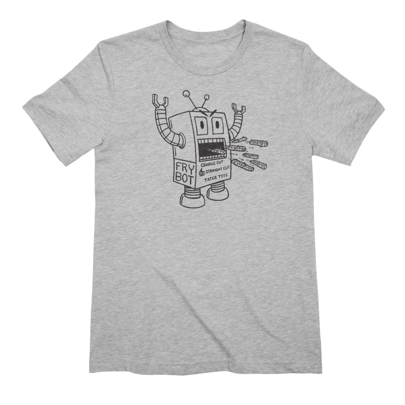 Fry Bot Men's T-Shirt by Animal Monster Robot