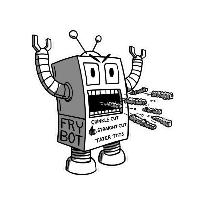 Fry Bot for Dark Shirts Men's T-Shirt by Animal Monster Robot
