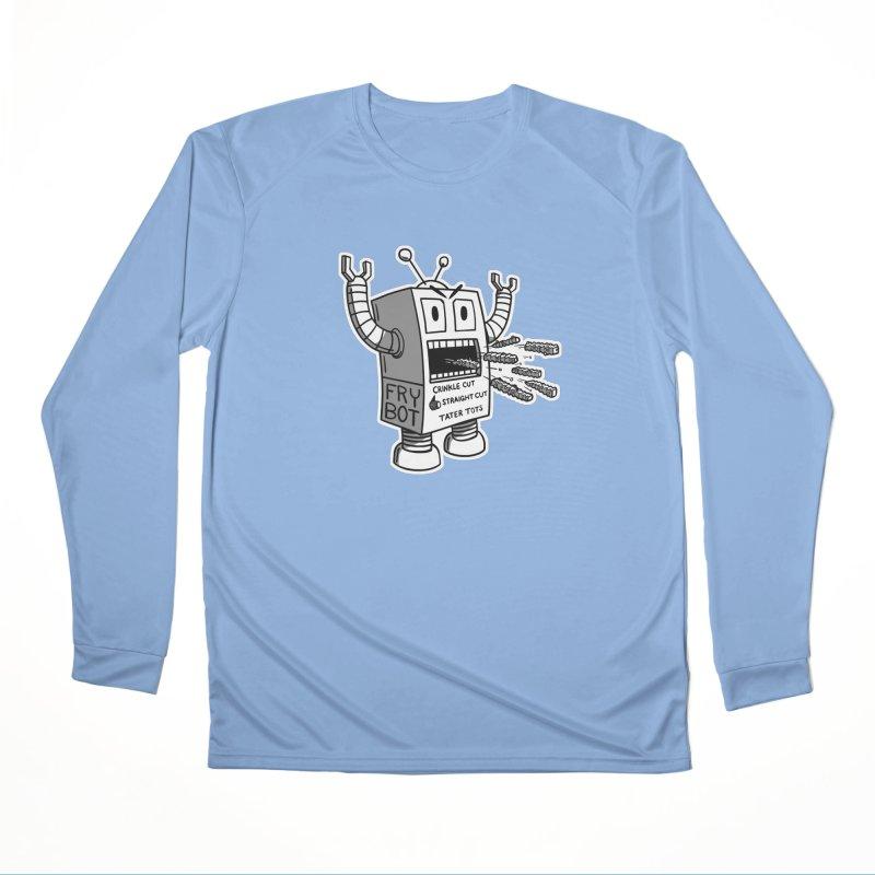 Fry Bot Men's Longsleeve T-Shirt by Animal Monster Robot