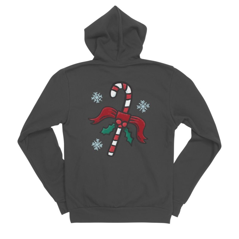 Candy Cane Women's Zip-Up Hoody by Animal Monster Robot