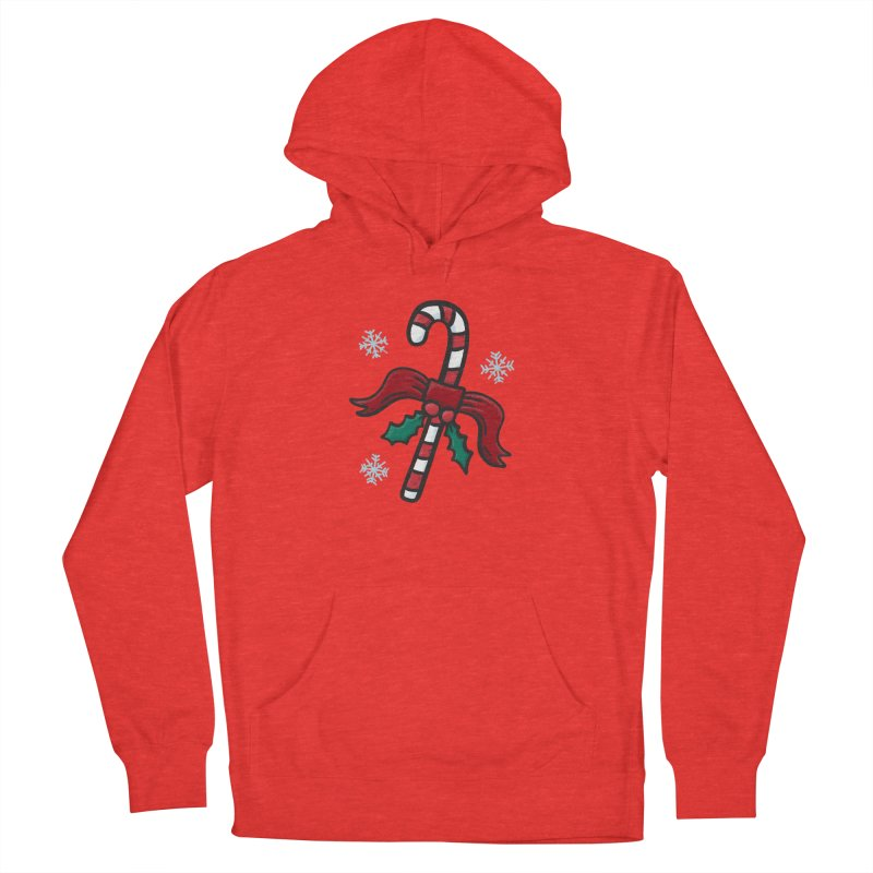 Candy Cane Women's Pullover Hoody by Animal Monster Robot