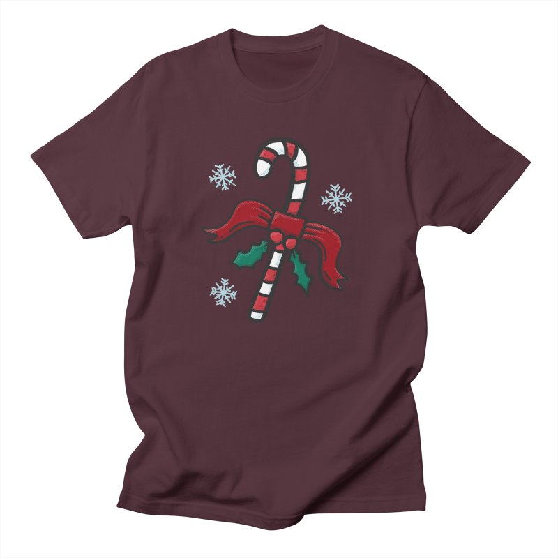 Candy Cane Men's T-Shirt by Animal Monster Robot