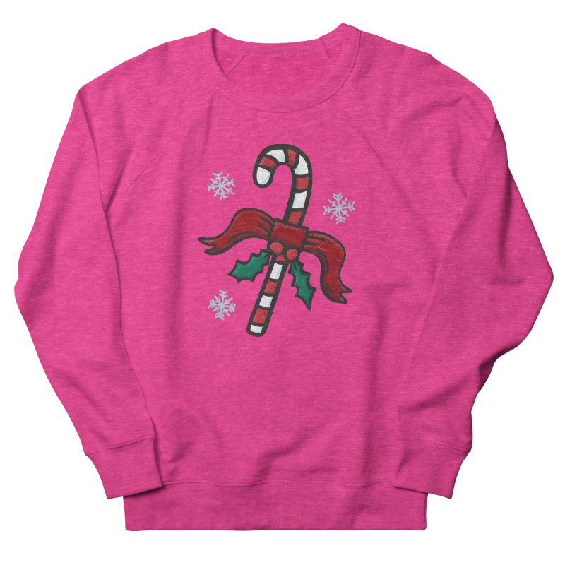 Candy Cane Women's Sweatshirt by Animal Monster Robot