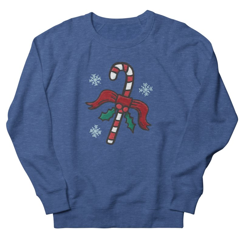 Candy Cane Men's Sweatshirt by Animal Monster Robot