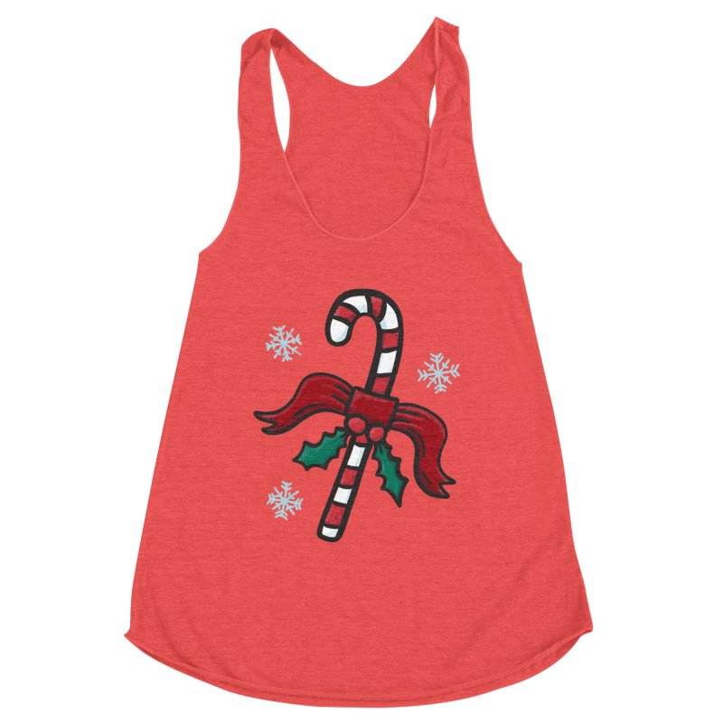 Candy Cane Women's Tank by Animal Monster Robot