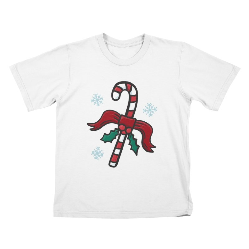 Candy Cane Kids T-Shirt by Animal Monster Robot