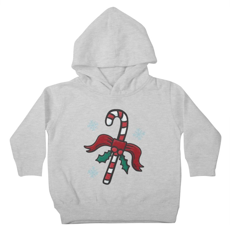 Candy Cane Kids Toddler Pullover Hoody by Animal Monster Robot
