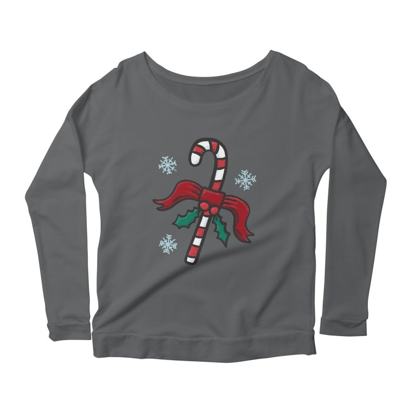 Candy Cane Women's Longsleeve T-Shirt by Animal Monster Robot