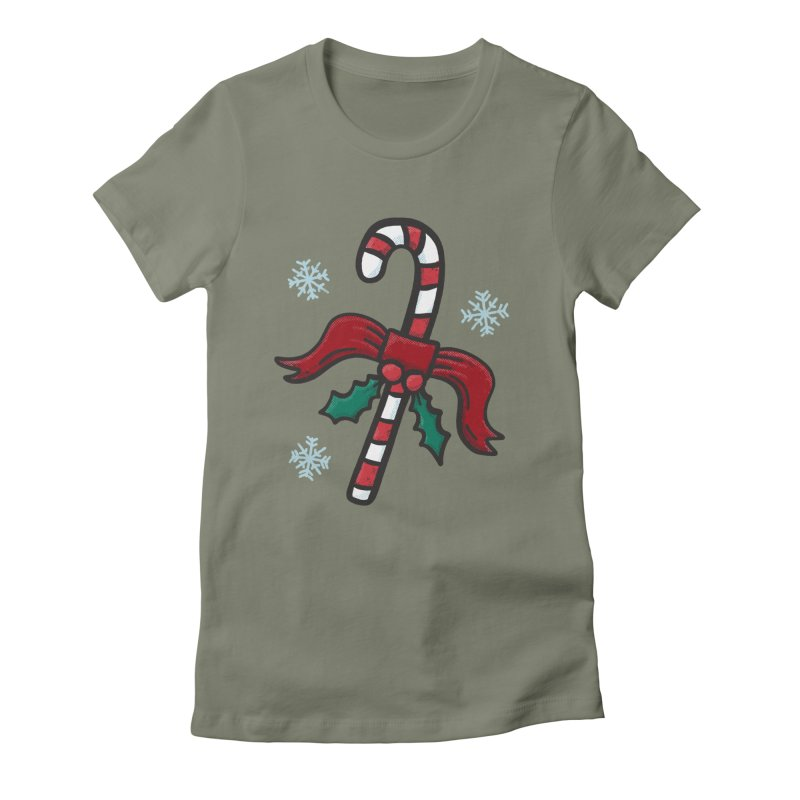 Candy Cane Women's T-Shirt by Animal Monster Robot