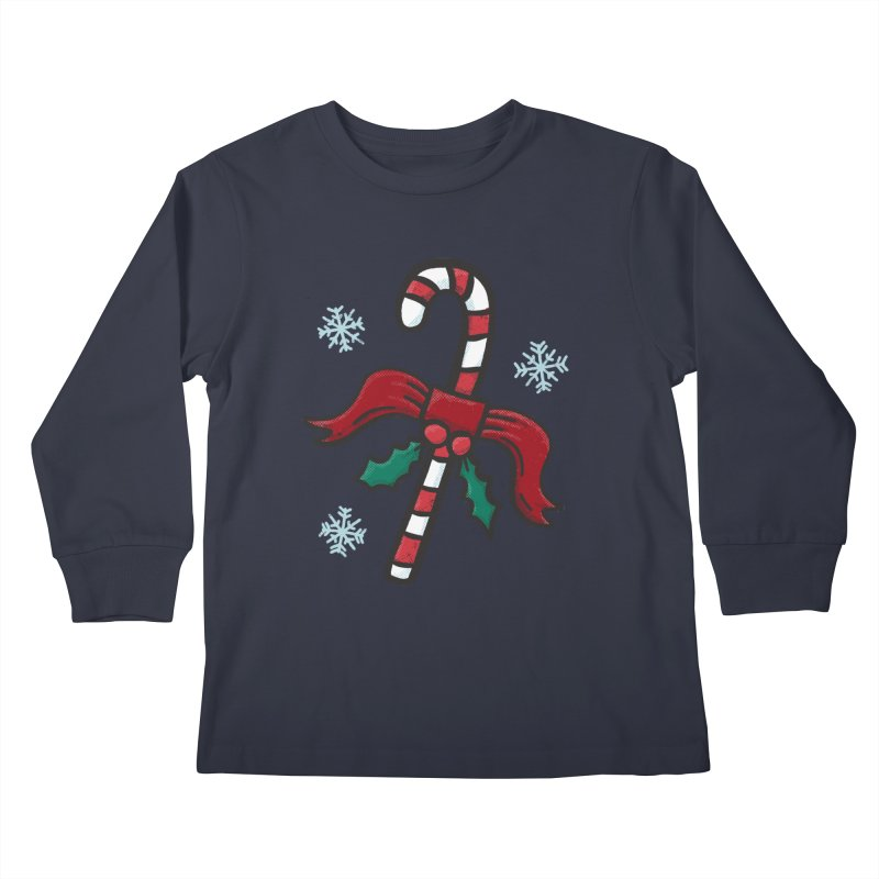 Candy Cane Kids Longsleeve T-Shirt by Animal Monster Robot