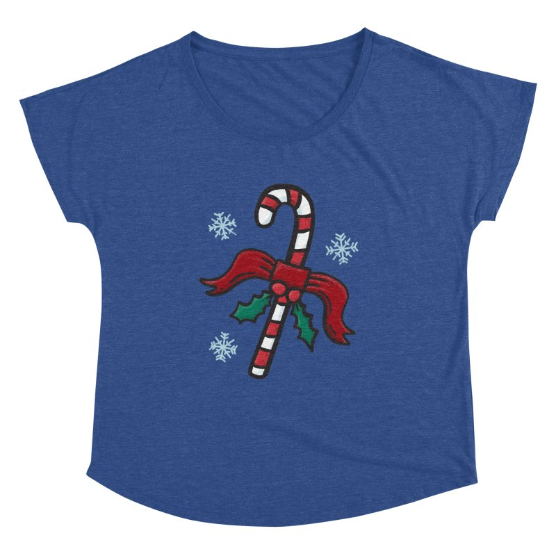 Candy Cane Women's Scoop Neck by Animal Monster Robot