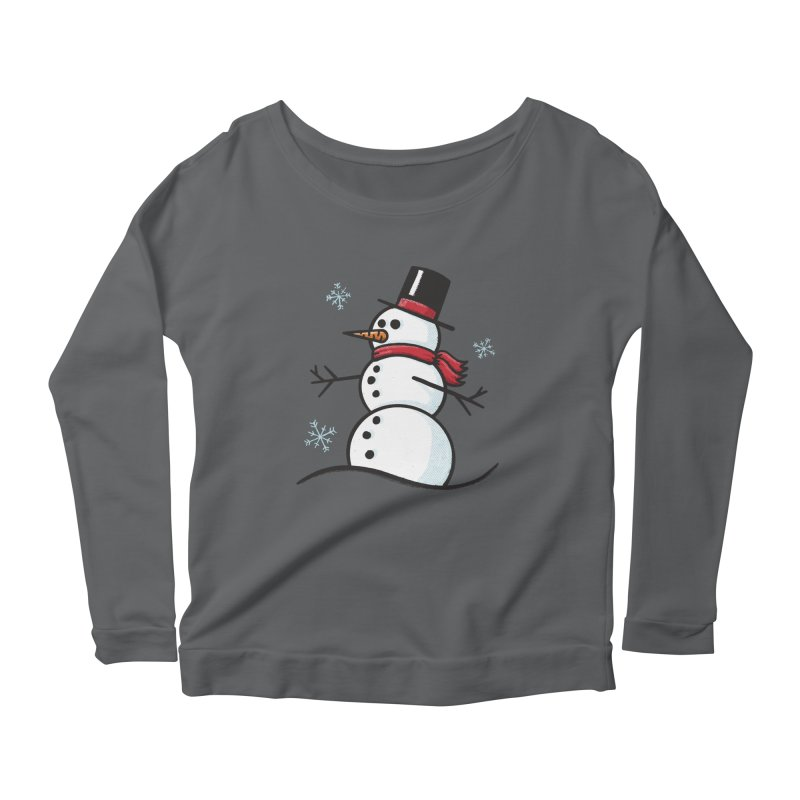 Chilly the Snowfriend Women's Longsleeve T-Shirt by Animal Monster Robot
