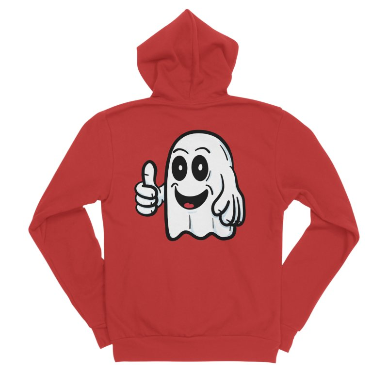 Right On, Ghost Women's Zip-Up Hoody by Animal Monster Robot
