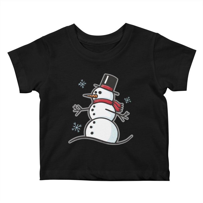 Chilly the Snowfriend - for black shirts Kids Baby T-Shirt by Animal Monster Robot