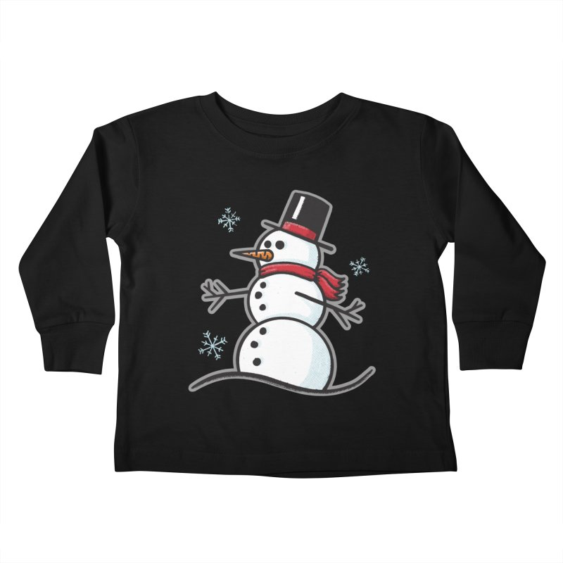 Chilly the Snowfriend - for black shirts Kids Toddler Longsleeve T-Shirt by Animal Monster Robot