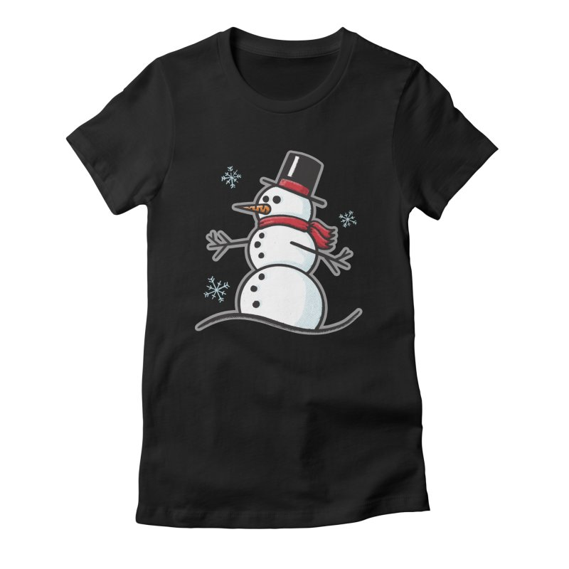 Chilly the Snowfriend - for black shirts Women's T-Shirt by Animal Monster Robot