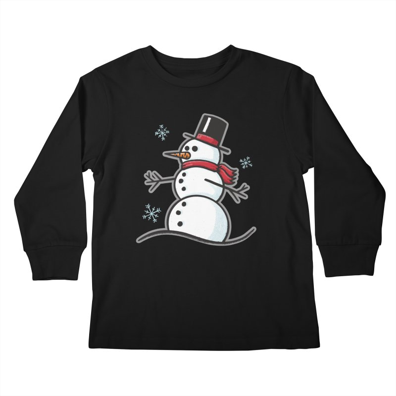 Chilly the Snowfriend - for black shirts Kids Longsleeve T-Shirt by Animal Monster Robot