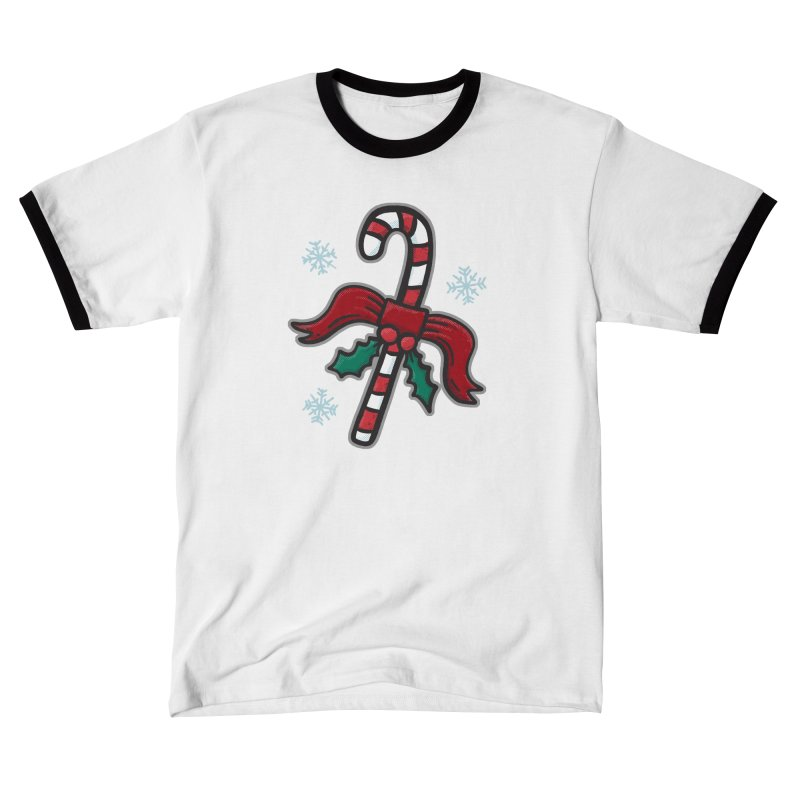 Candy Cane - for black shirts Men's T-Shirt by Animal Monster Robot