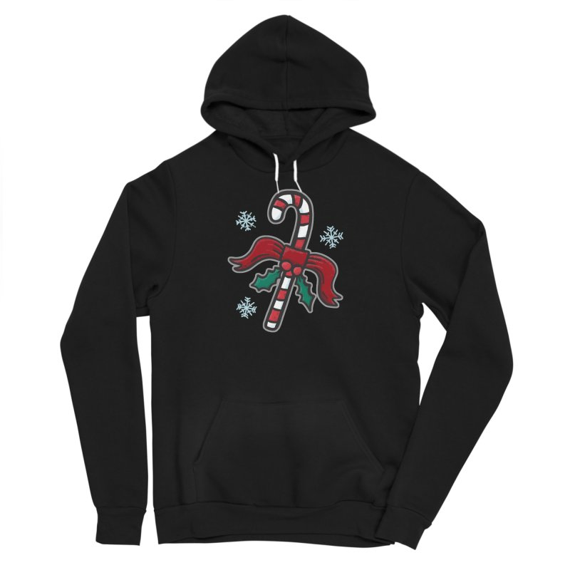 Candy Cane - for black shirts Men's Pullover Hoody by Animal Monster Robot
