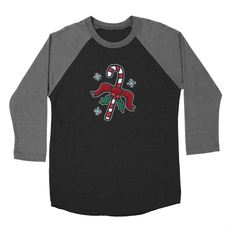 Candy Cane - for black shirts Women's Longsleeve T-Shirt by Animal Monster Robot