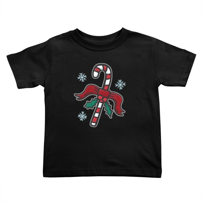 Candy Cane - for black shirts Kids Toddler T-Shirt by Animal Monster Robot