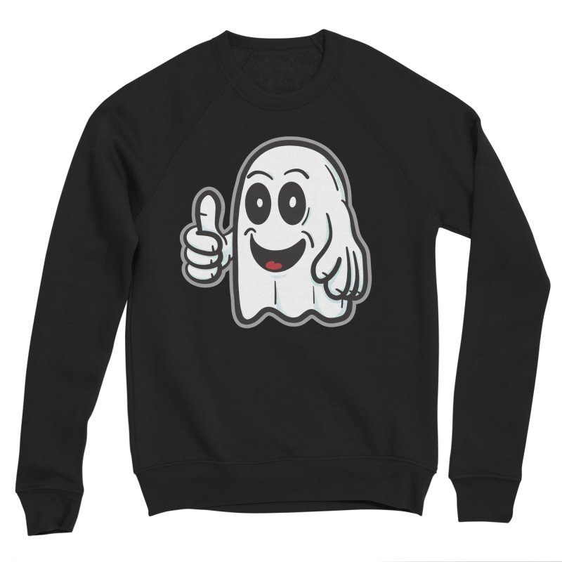Right On, Ghost - for black shirts Men's Sweatshirt by Animal Monster Robot