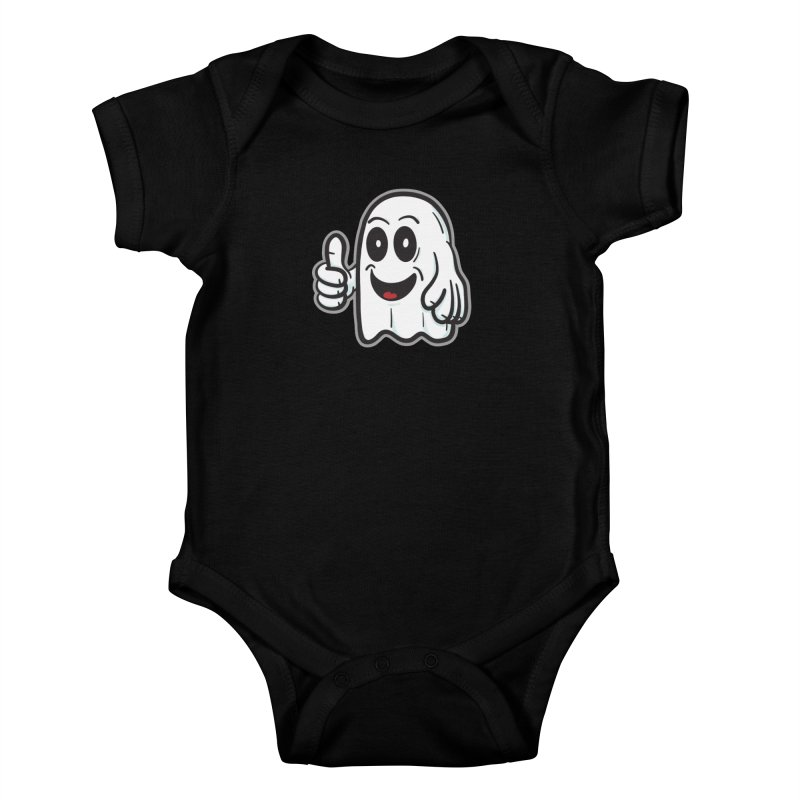Right On, Ghost - for black shirts Kids Baby Bodysuit by Animal Monster Robot