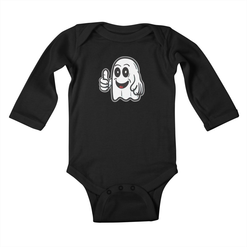 Right On, Ghost - for black shirts Kids Baby Longsleeve Bodysuit by Animal Monster Robot