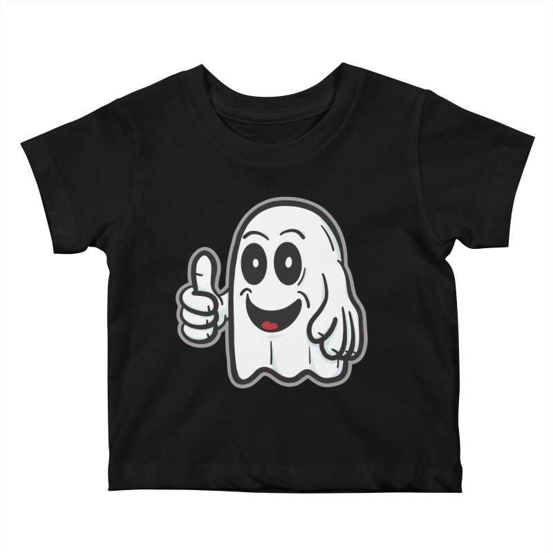 Right On, Ghost - for black shirts Kids Baby T-Shirt by Animal Monster Robot