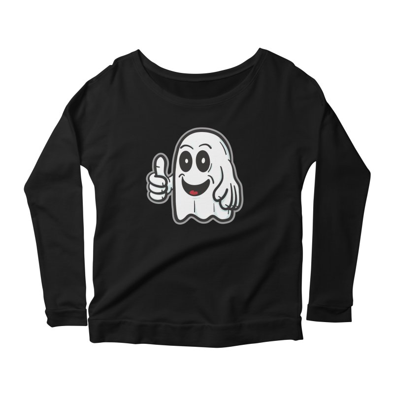 Right On, Ghost - for black shirts Women's Longsleeve T-Shirt by Animal Monster Robot