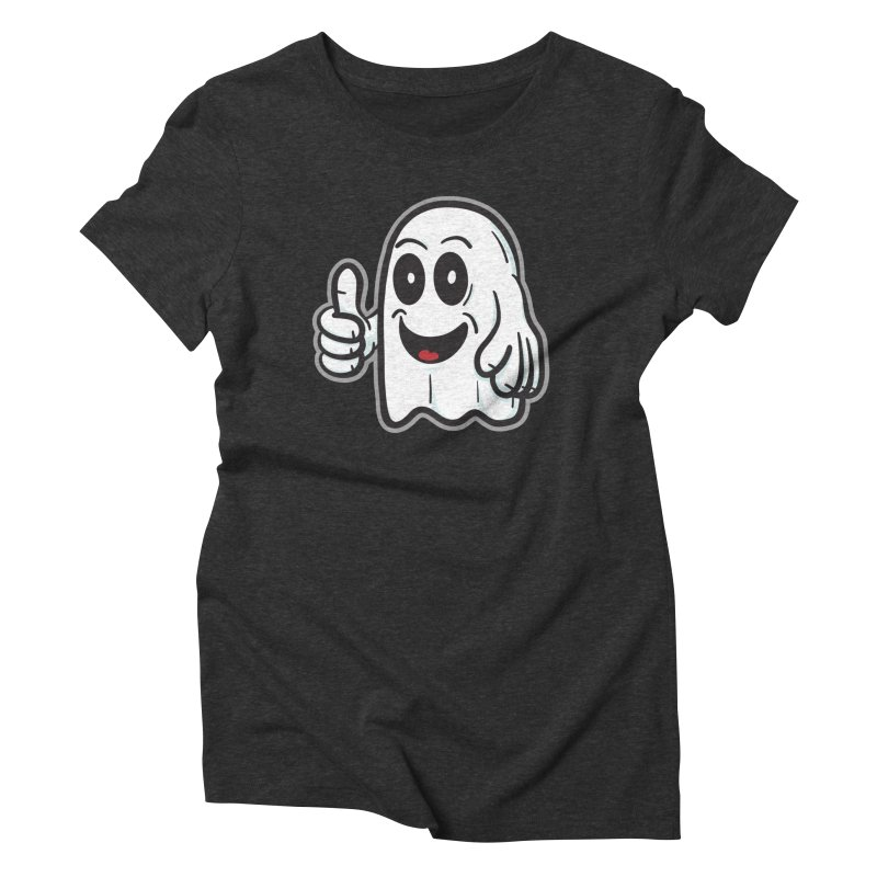 Right On, Ghost - for black shirts Women's T-Shirt by Animal Monster Robot