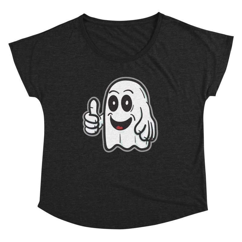 Right On, Ghost - for black shirts Women's Scoop Neck by Animal Monster Robot