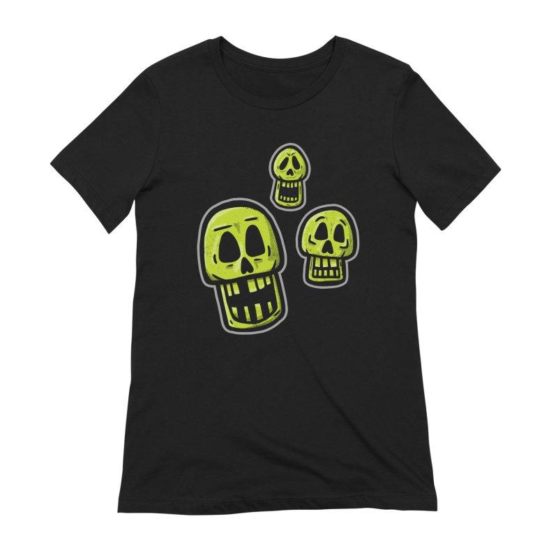 Laughing Skulls - for black shirts Women's T-Shirt by Animal Monster Robot