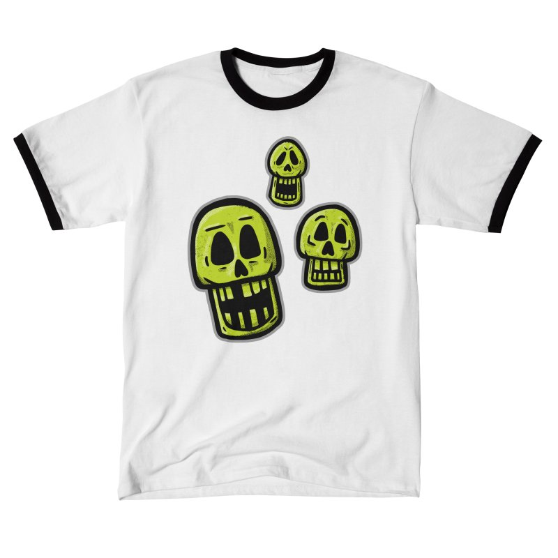Laughing Skulls - for black shirts Men's T-Shirt by Animal Monster Robot
