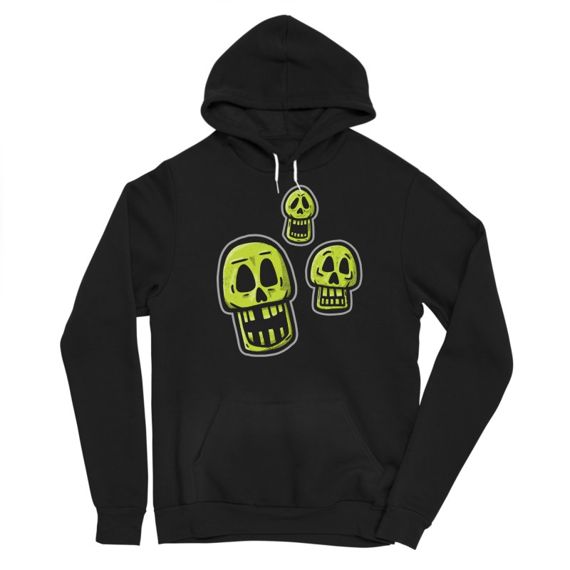 Laughing Skulls - for black shirts Men's Pullover Hoody by Animal Monster Robot