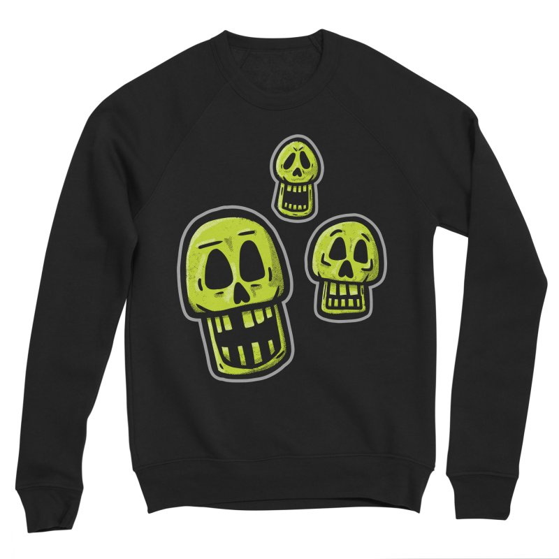 Laughing Skulls - for black shirts Men's Sweatshirt by Animal Monster Robot