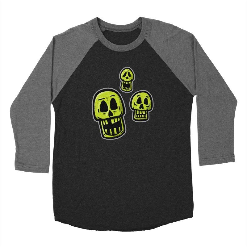 Laughing Skulls - for black shirts Women's Longsleeve T-Shirt by Animal Monster Robot