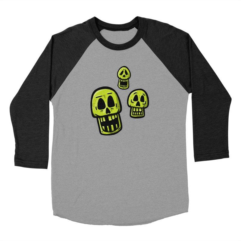 Laughing Skulls - for black shirts Men's Longsleeve T-Shirt by Animal Monster Robot
