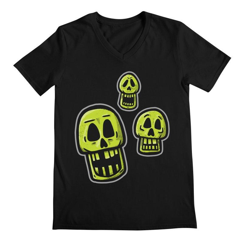 Laughing Skulls - for black shirts Men's V-Neck by Animal Monster Robot