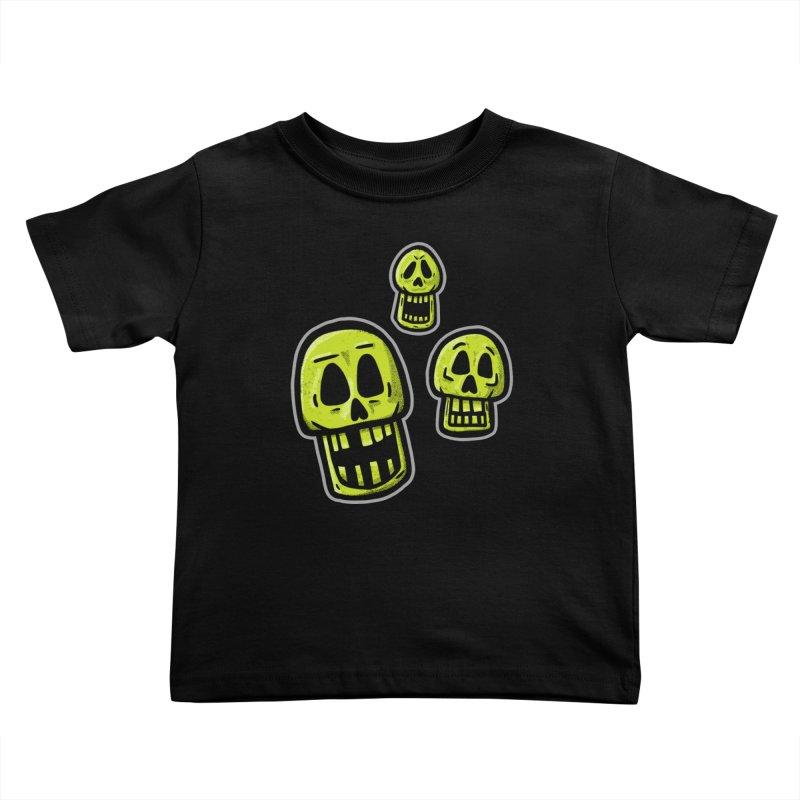 Laughing Skulls - for black shirts Kids Toddler T-Shirt by Animal Monster Robot