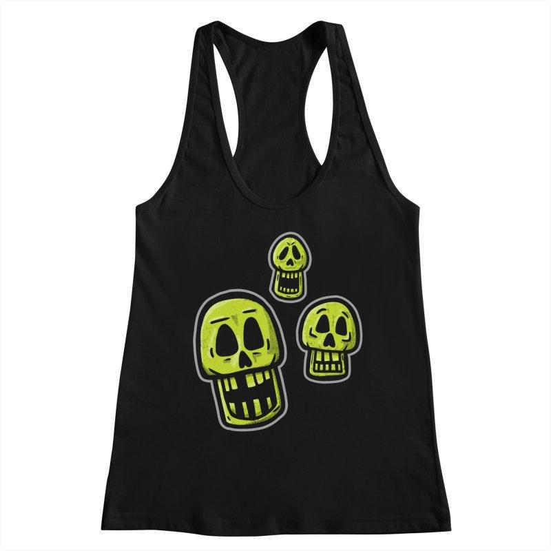 Laughing Skulls - for black shirts Women's Tank by Animal Monster Robot