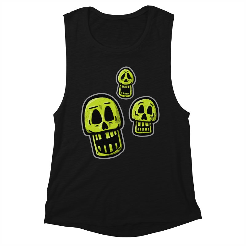 Laughing Skulls - for black shirts Women's Tank by Animal Monster Robot