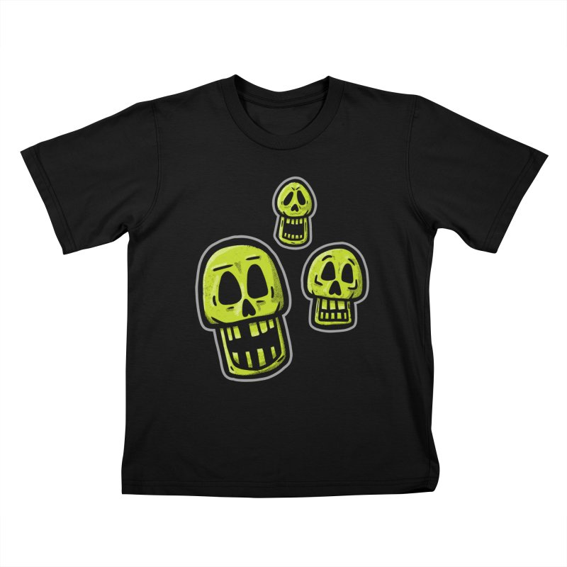 Laughing Skulls - for black shirts Kids T-Shirt by Animal Monster Robot