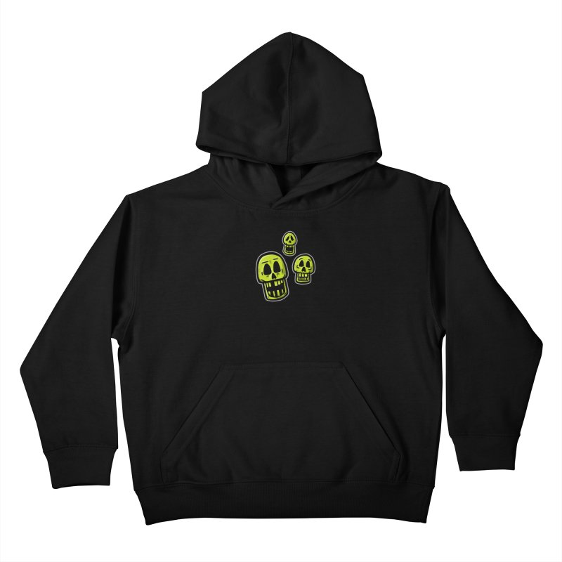 Laughing Skulls - for black shirts Kids Pullover Hoody by Animal Monster Robot