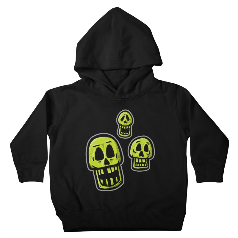 Laughing Skulls - for black shirts Kids Toddler Pullover Hoody by Animal Monster Robot