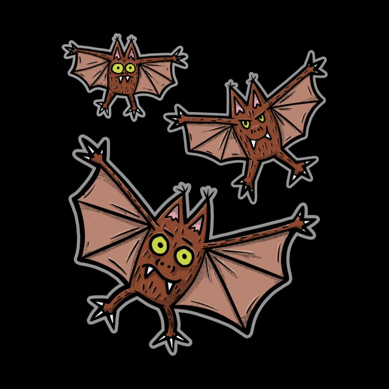 BATS!!! - for black shirts Women's T-Shirt by Animal Monster Robot